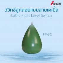 สวิทช์ลูกลอยแบบสายเคเบิ้ล Cable Float Level Switch FT-3C