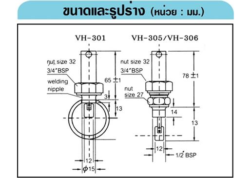 SIKA VH-305 สวิทช์การไหลแบบไม่มีข้อต่อ