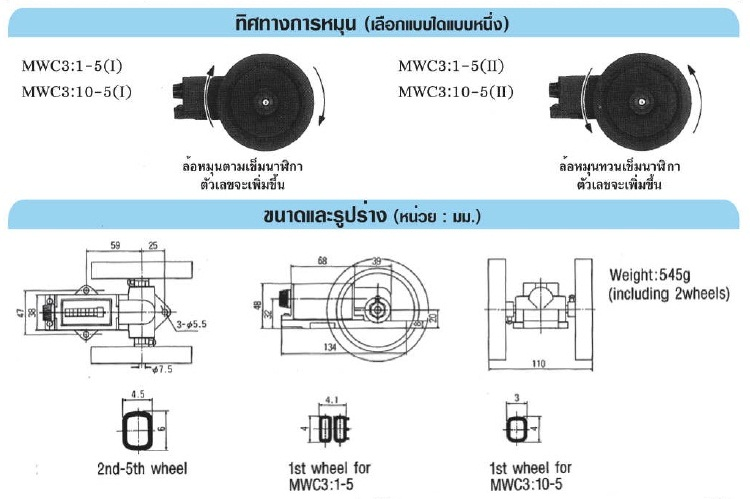 LINE MWC-3:10-5 Series เครื่องวัดความยาวแบบราคาประหยัด