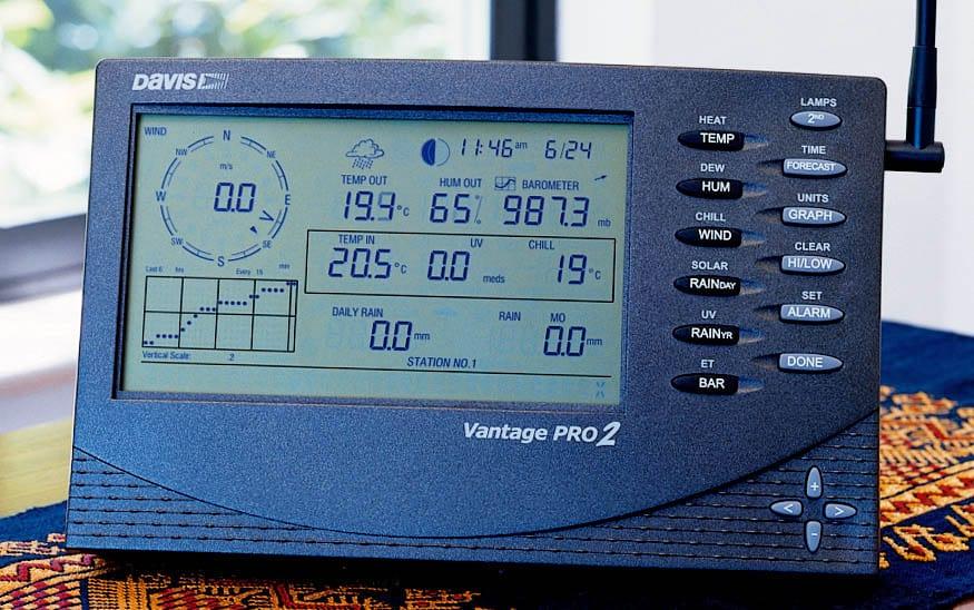 DAVIS INSTRUMENT VANTAGE PRO2 เครื่องตรวจสอบสภาพอากาศ