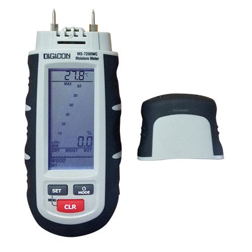 DIGICON MS-7200WC เครื่องวัดความชื้นในเนื้อไม้, กระดาษและวัสดุก่อสร้าง