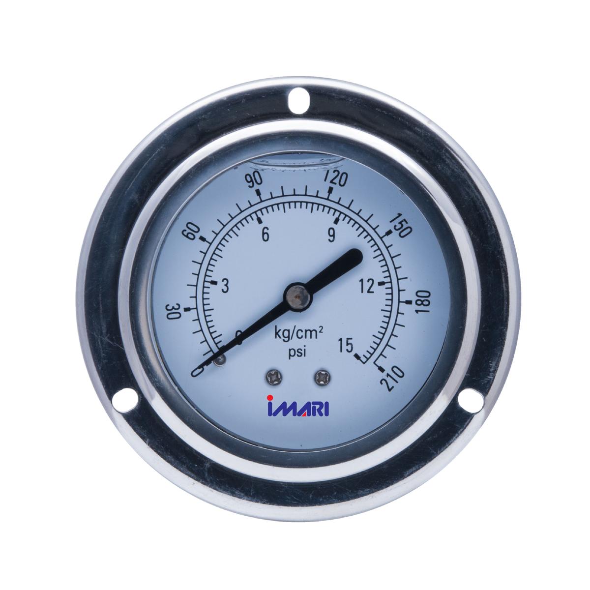 IMARI TYPE D (PRESSURE_Oil) เกจ์วัดความดันแบบมีน้ำมันหล่อกันกระเทือน