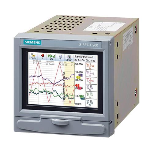 SIEMENS SIREC D200 เครื่องบันทึกอุณหภูมิและค่าทางไฟฟ้าแบบ Paperless