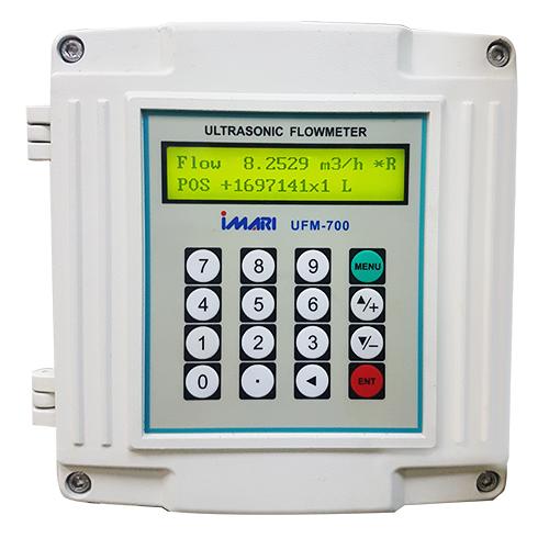 IMARI UFM-700 เครื่องวัดอัตราการไหลแบบอุลตร้าโซนิคชนิดรัดท่อ  แบบติดตั้ง