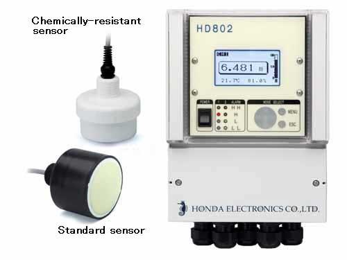 HONDA HD801/802 เครื่องวัดระดับของเหลวและผงเมล็ดแบบอัลตร้าโซนิค