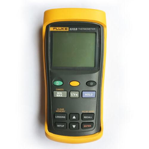 FLUKE 53-II เทอร์โมมิเตอร์ดิจิตอลอินพุตเดี่ยวที่มีการบันทึกข้อมูล