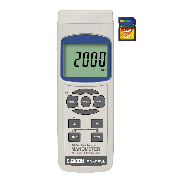 DIGICON MN-910SD มาโนมิเตอร์บันทึกค่าผ่าน SD card