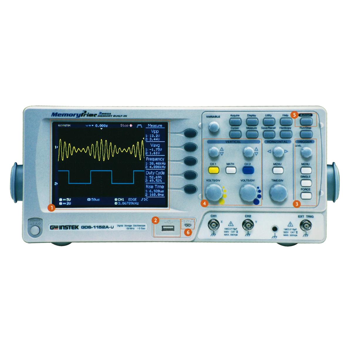 GW-INSTEK GDS-1102A-U ดิจิตอลสตอเรจออสซิลโลสโคป