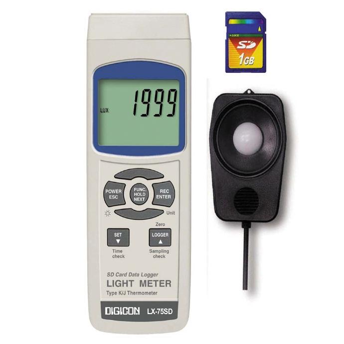 DIGICON LX-75SD เครื่องวัดความเข้มแสงบันทึกค่าผ่าน SD Card